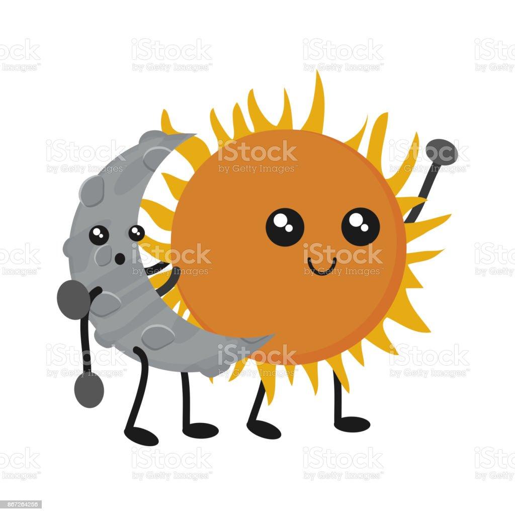 kawaii sun design stock vector art more images of abstract rh istockphoto com Sun Outline Vector Black and White Sun Vector