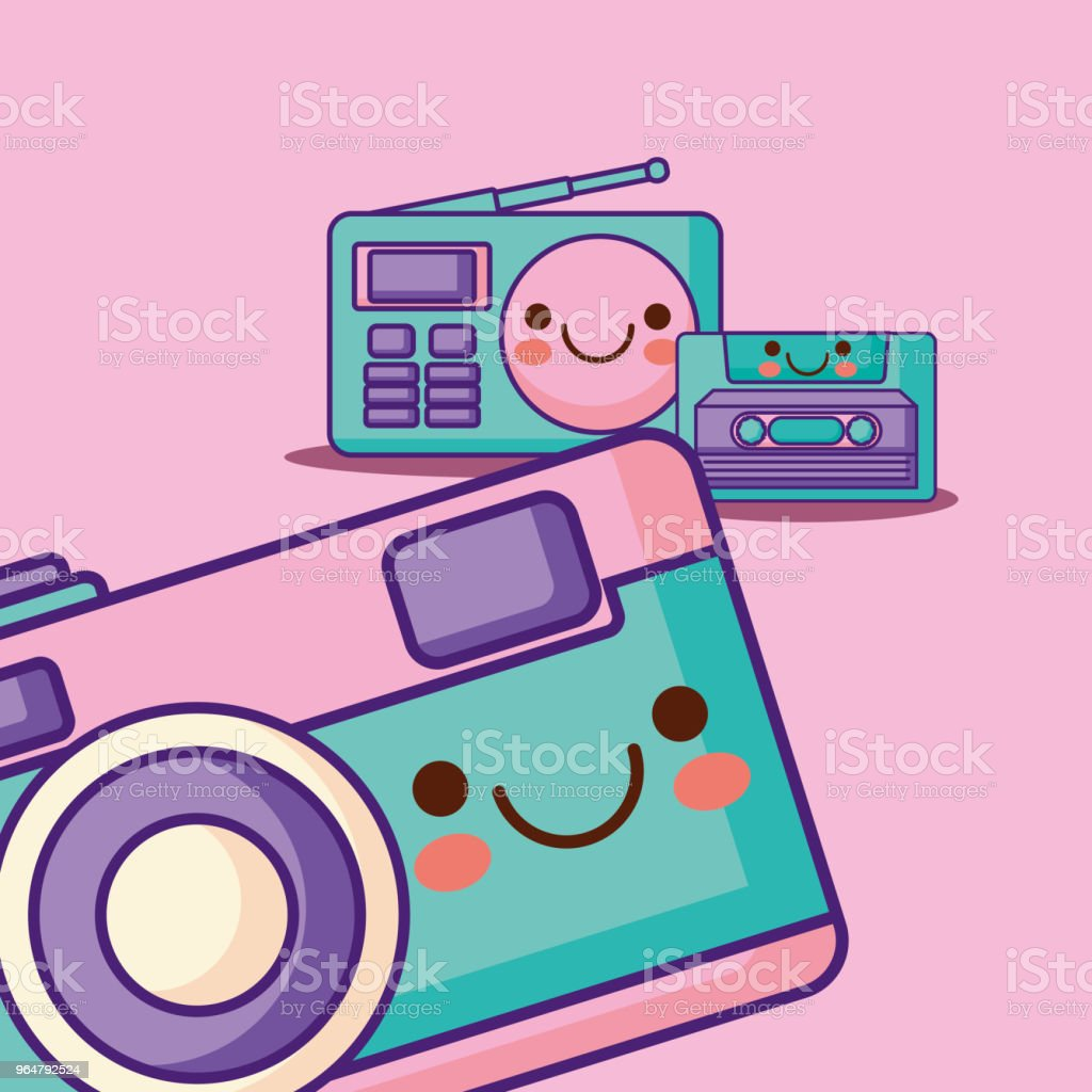 kawaii technology devices royalty-free kawaii technology devices stock vector art & more images of analog