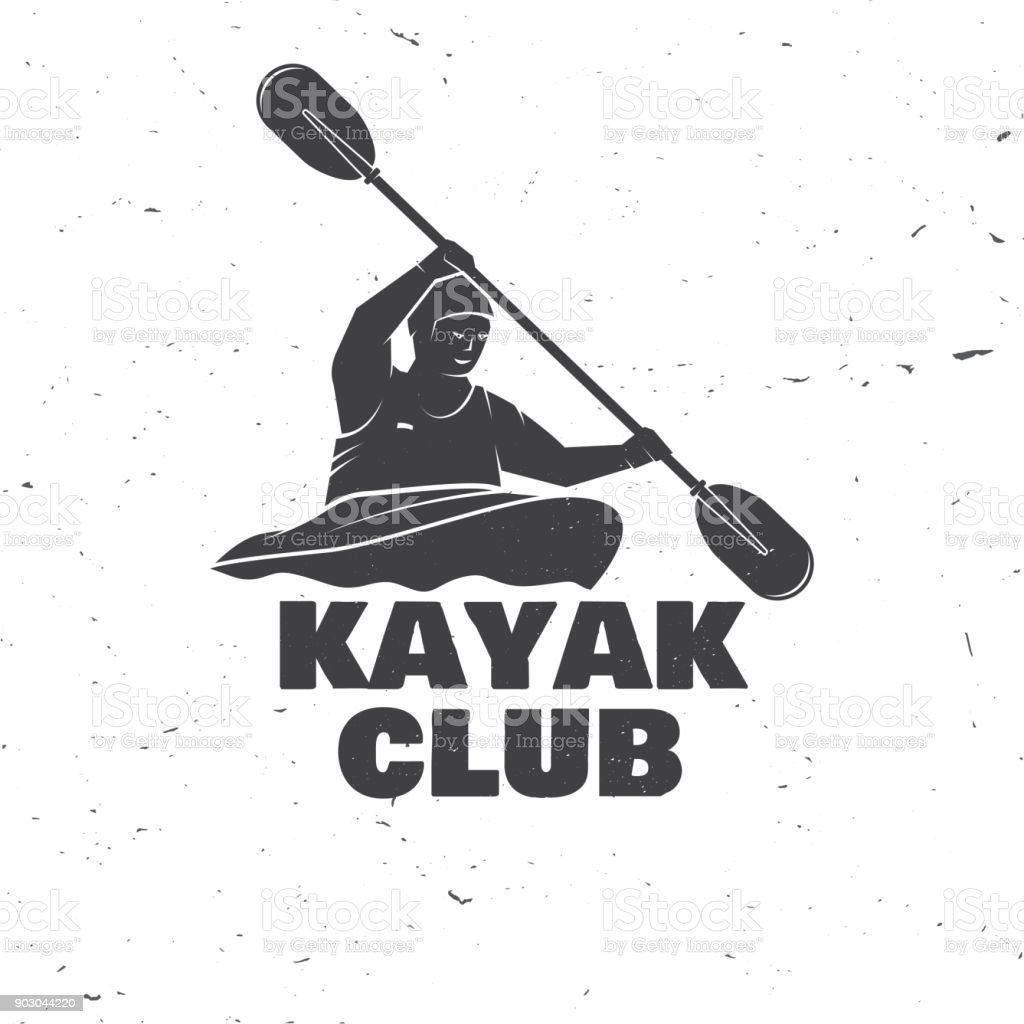 Kayak club. Vector illustration vector art illustration