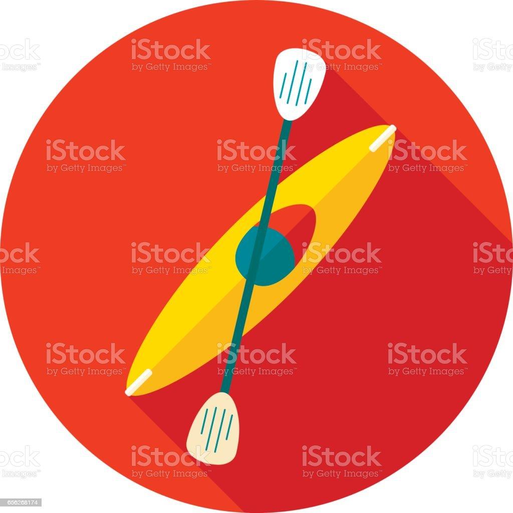 Kayak icon. Canoe vector. Summer. Vacation vector art illustration