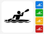 Kayak Icon Flat Graphic Design