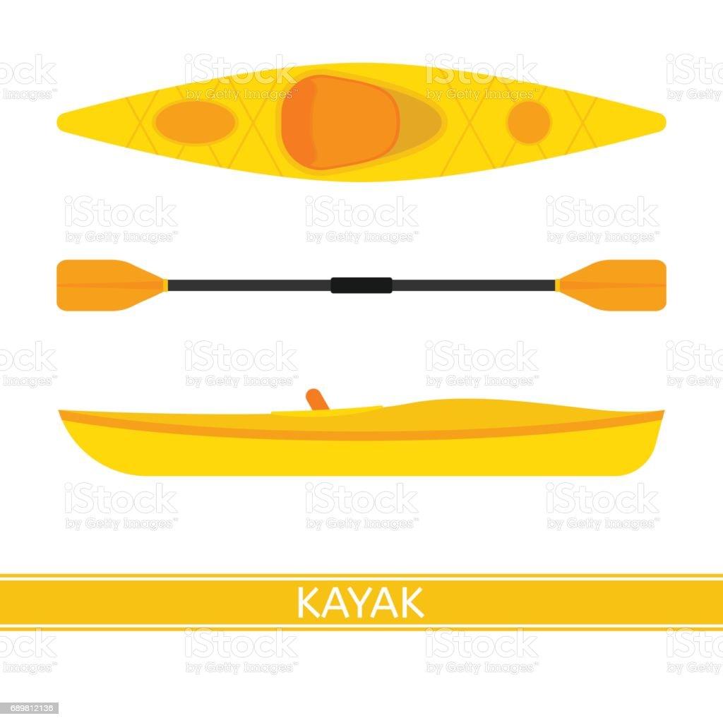 Icono de Vector de kayak - ilustración de arte vectorial