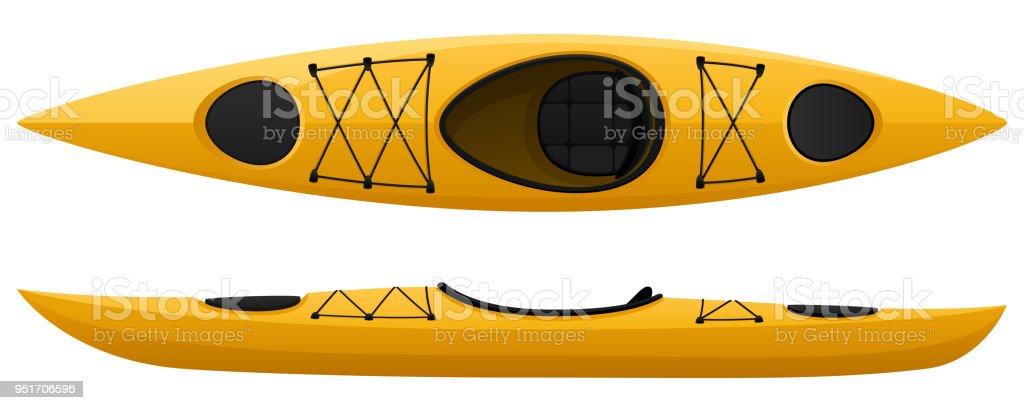 En Kayak - ilustración de arte vectorial