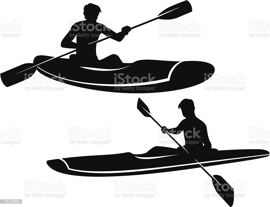 Kayaking royalty-free kayaking stock vector art & more images of adult