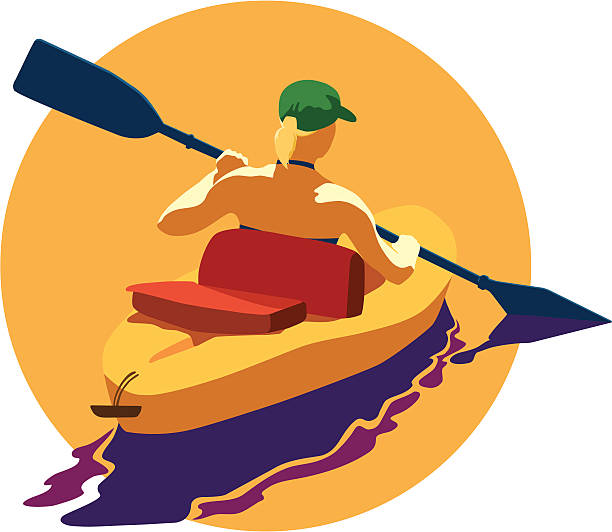 kayaking - kayaking stock illustrations, clip art, cartoons, & icons