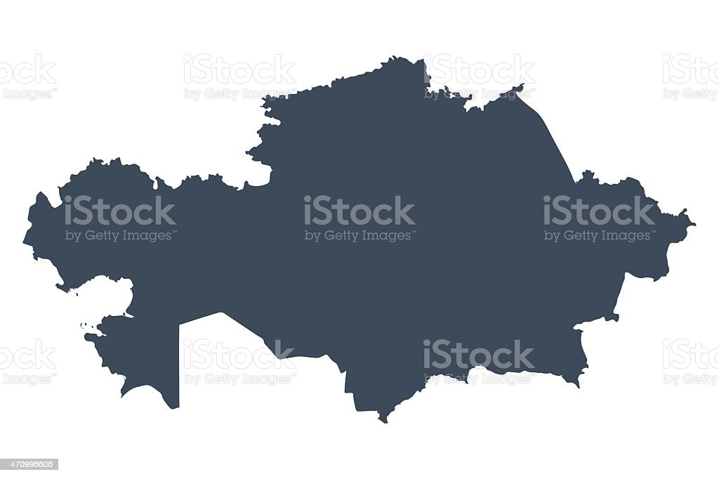 Kazakhstan country map