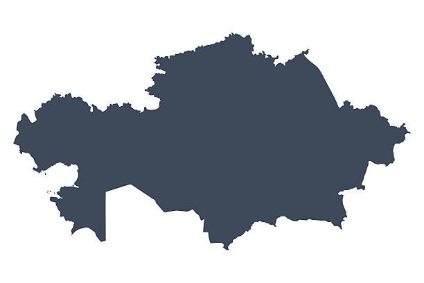 kasachstan land karte - kasachstan stock-grafiken, -clipart, -cartoons und -symbole