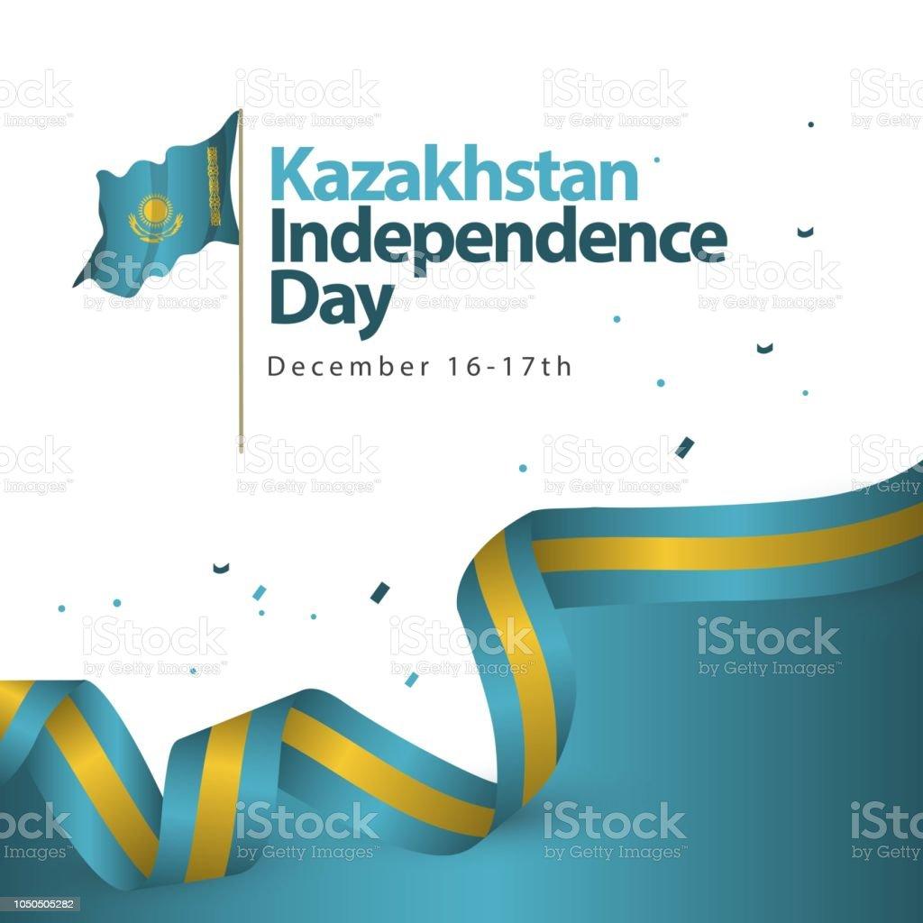 Kazakhstan Independence Day Vector Template Design Illustration vector art illustration