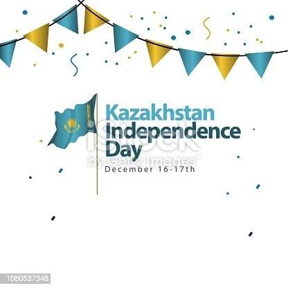 Ilustración de Día De La Independencia De Kazajstán Vector Plantilla ...