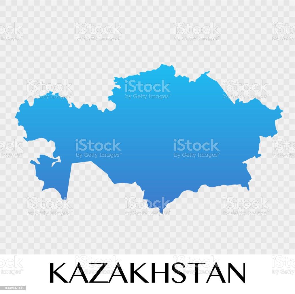 Kazakhstan map in Asia continent illustration design vector art illustration
