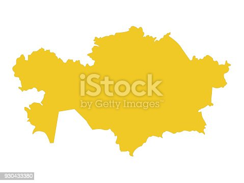 vector illustration of Kazakhstan map