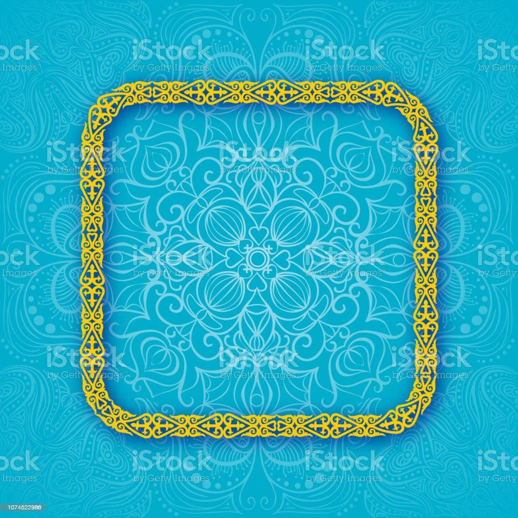 Kazakhstan official colors background. Banner or poster of Kazakhstan independence day celebration. Vector illustration frame design of Kazakhstan flag vector art illustration