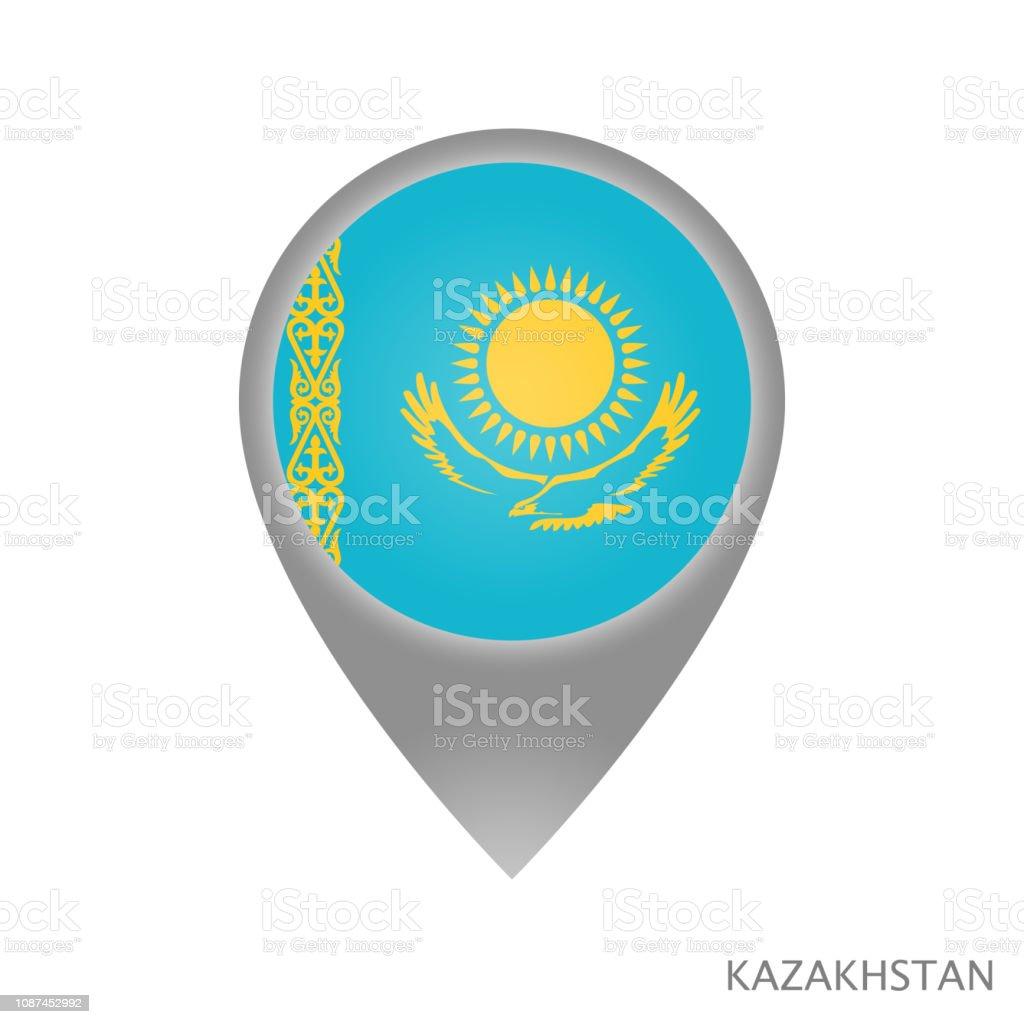 Kazakhstan point vector art illustration