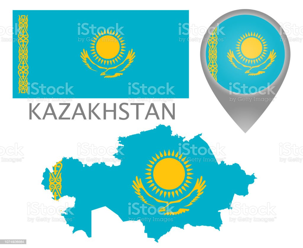 Kazakhstan vector art illustration