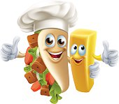 Kebab and Chip Friend food characters