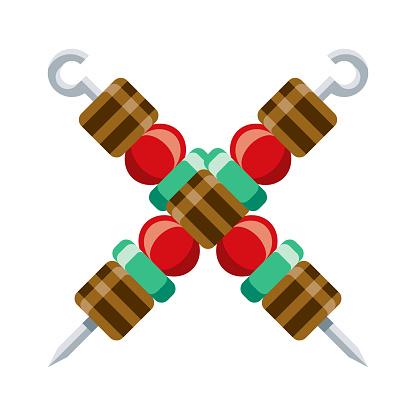 Kebab Icon on Transparent Background