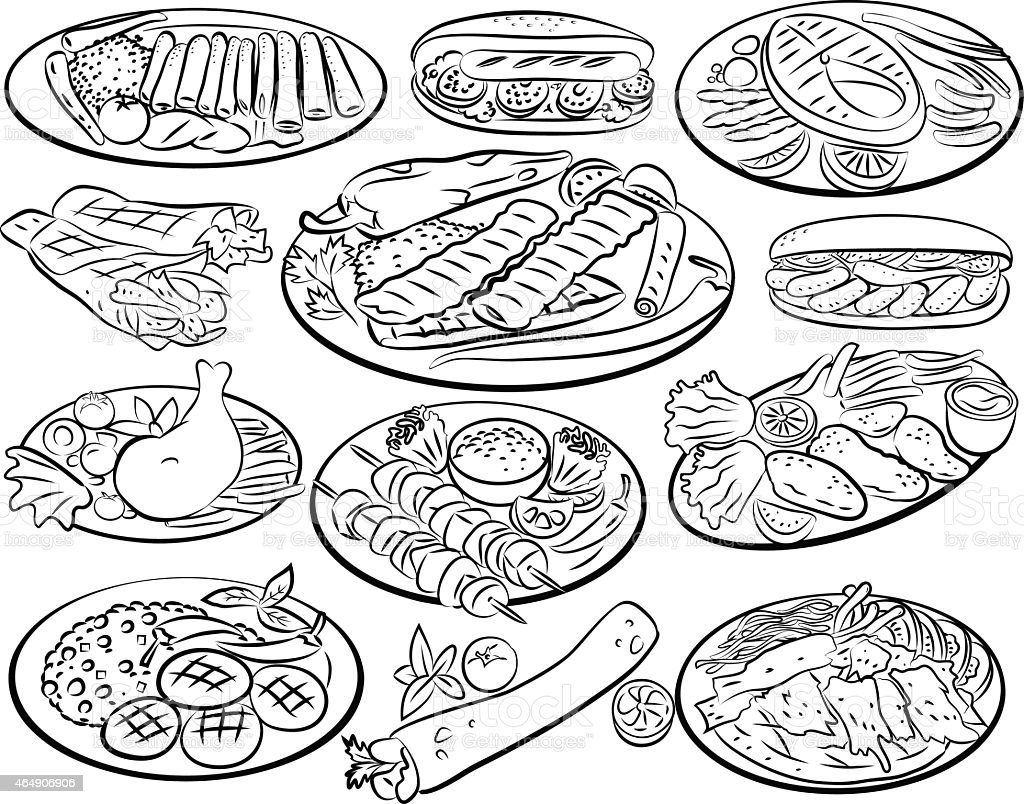 93 Kebab For Free Coloring Pages Download