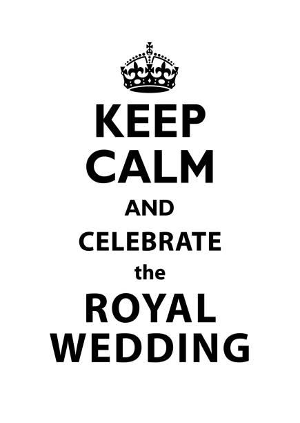 keep calm and celebrate the royal wedding quotation. - уединение stock illustrations