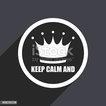 Keep Calm And Flat Design Vector Icon Stock Vector Art More Images