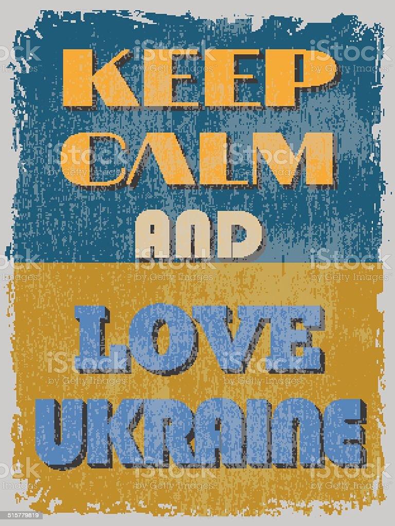 Vetores De Mantenhase Calmo E Amor Ucrânia Motivacional