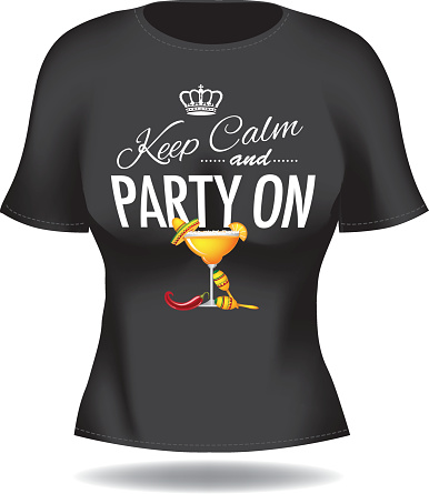 Keep calm and party on womans tee