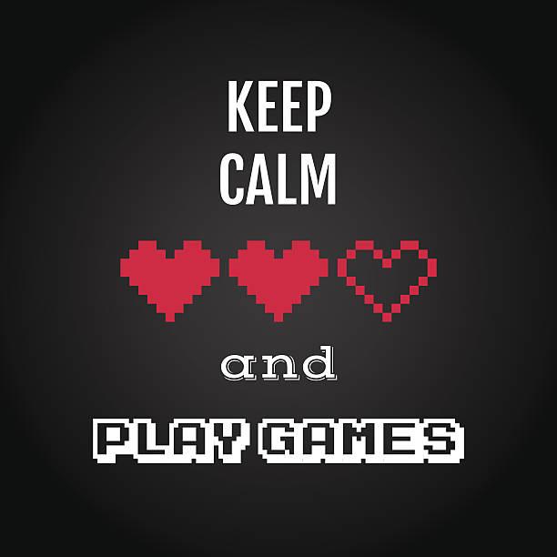 Bleiben Sie ruhig, spielen, spielen-Angebot – Vektorgrafik