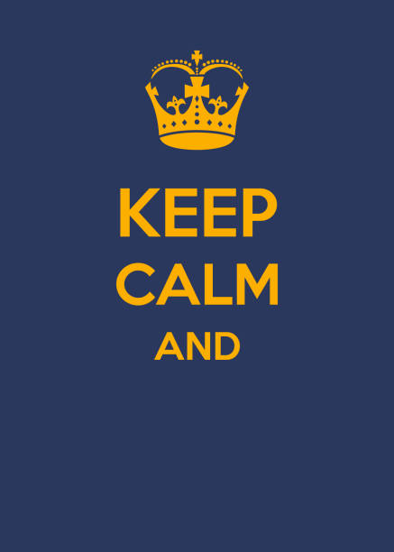 Keep calm and.... Keep calm and.... complete the sentence, sentence tranquility stock illustrations