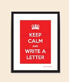 keep calm and write a letter