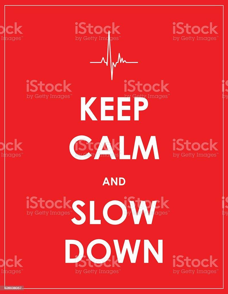 keep calm banner vector art illustration
