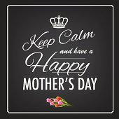 Keep calm happy mother's day design