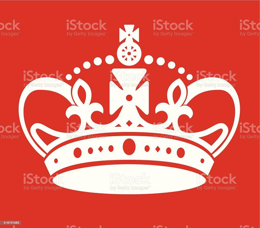 keep calm poster similar crown imitation vector art illustration