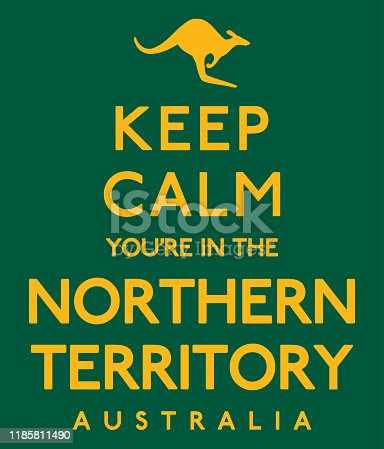 'Keep Calm You're In The Northern Territory' poster in vector format.