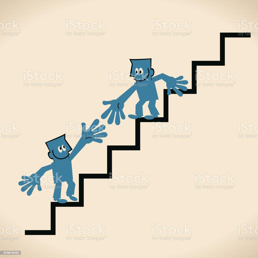 Weiter Wachsen Und Helfen Sich Gegenseitig Ein Geschäftsmann Treppen ...