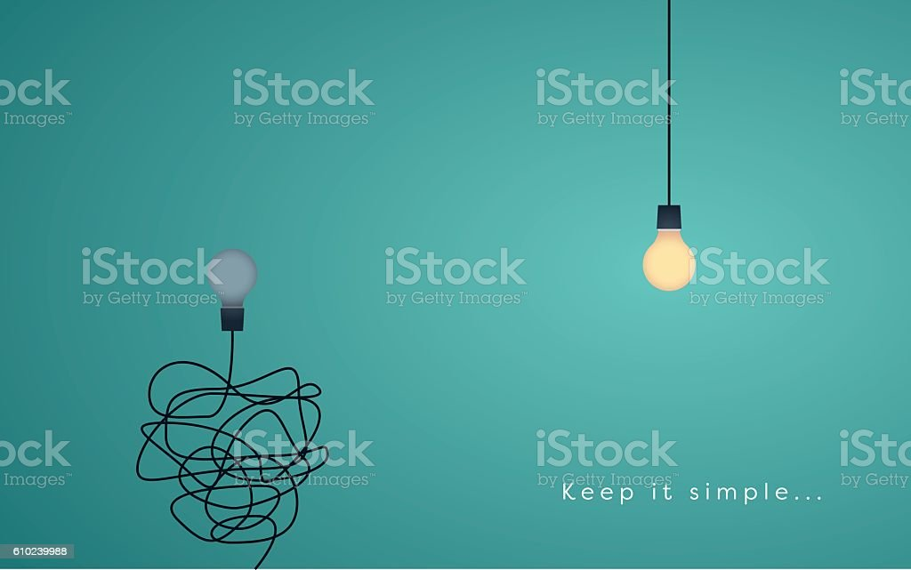 Keep it simple business concept for marketing, creativity, project management. vector art illustration