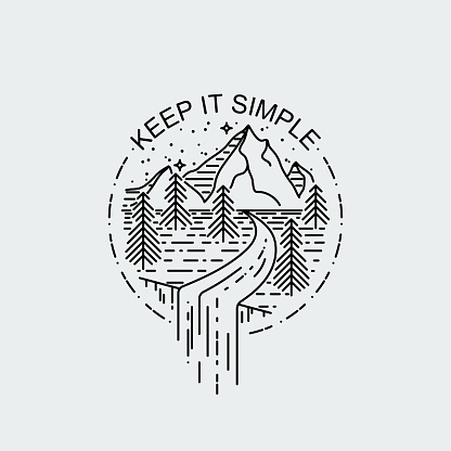 Keep It Simple Night Mountains With Waterfall Nature Exploration
