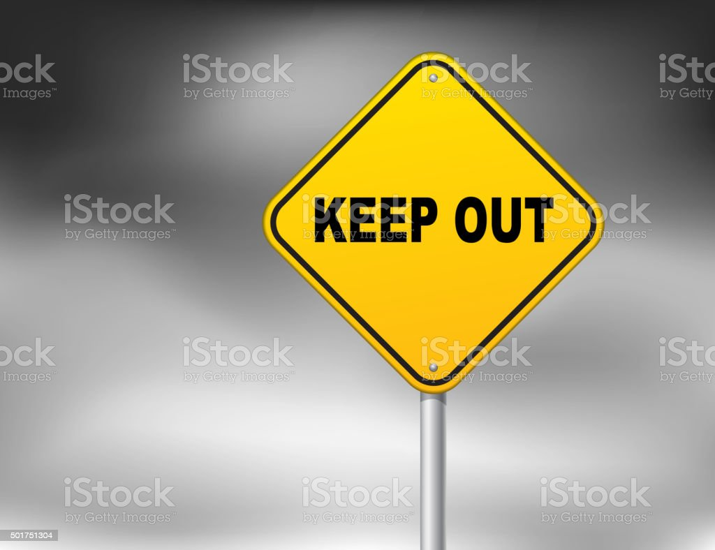 Keep out vector art illustration