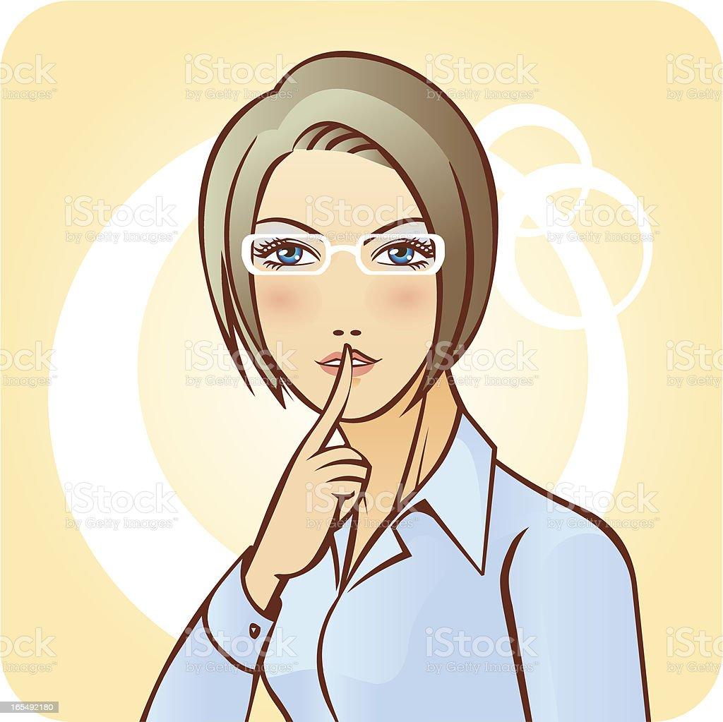 Keep Quiet! royalty-free stock vector art