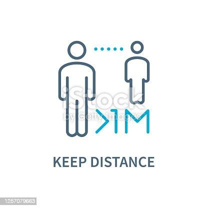 Keep Safe Distance - Icon. Coronavirus vector illustration