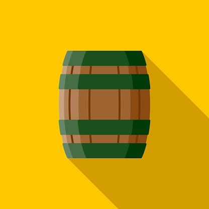 Keg Flat Design St. Patrick's Day Icon