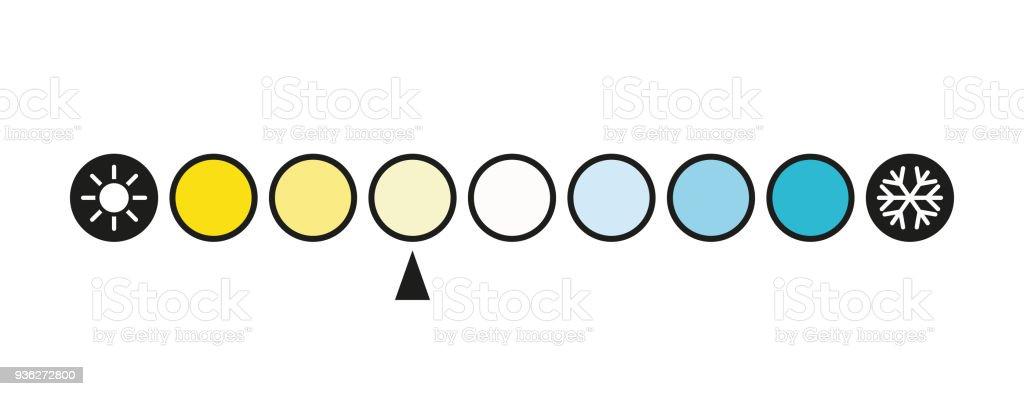 Kelvin Color Temperature Scale Chart Led Light Vector Illustration