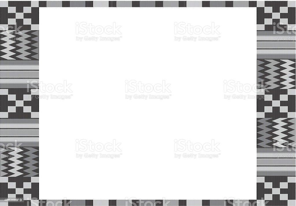 Kente Cloth Frame Stock Vector Art & More Images of Celebration ...