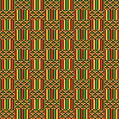 Kente Cloth Seamless Pattern