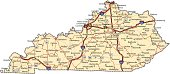 Kentucky Highway Map (vector)