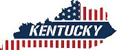 Kentucky patriotic map.