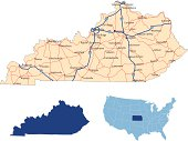 Kentucky road map