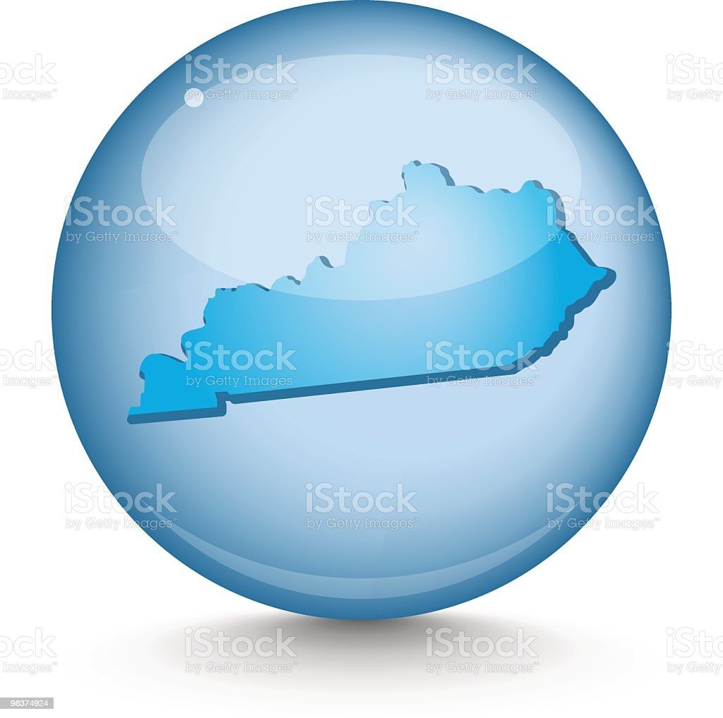 Kentucky  - Sphere State Series royalty-free kentucky sphere state series stock vector art & more images of blue