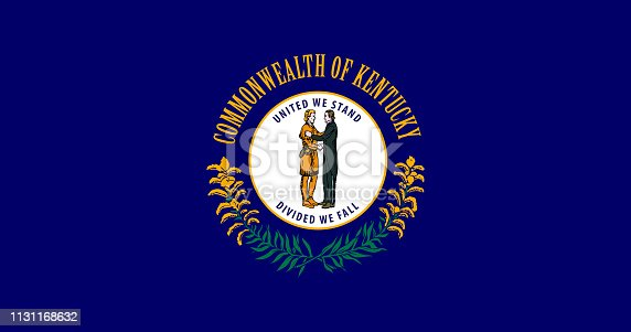 Kentucky state flag. United States of America Vector illustration. Frankfort