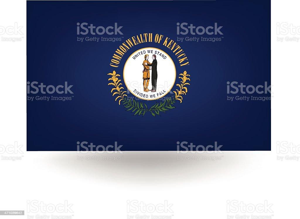 Bandeira do estado de Kentucky - ilustração de arte em vetor