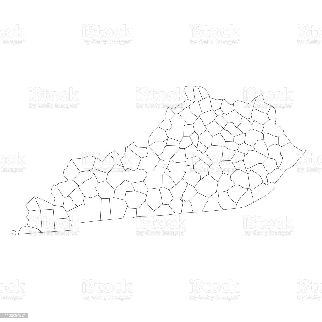 Kentucky State Map With Counties Stock Illustration ...