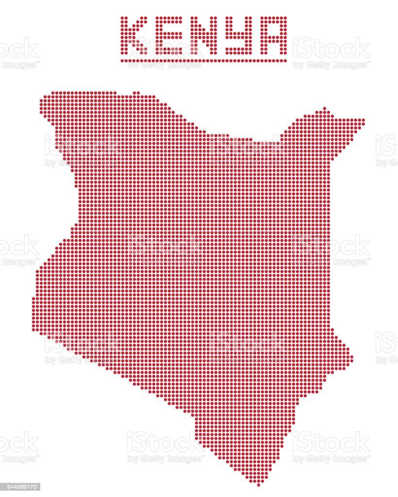Kenya Africa Dot Map Stock Vector Art & More Images of Africa ...